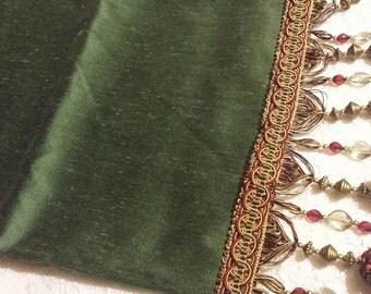 One Time Only Jewel Green Gorgeous Tassels Pirate Sash *  Renaissance Sash * Industrial * Steampunk * Goth Buccaneer