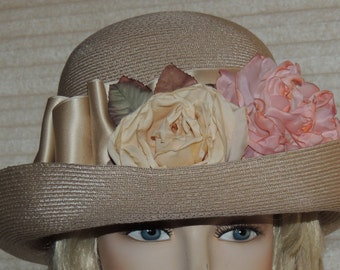 LAURA ASHLEY Made in Italy Easter Hat with Tags