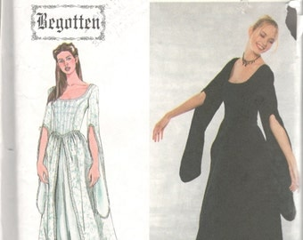 Simplicity 9128 Misses Renfaire Costume Pattern Begotten Angel Sleeve Dress Womens Sewing Size 4 6 8 10 Bust 29 - 32 Or 12 14 16 18 UNCUT