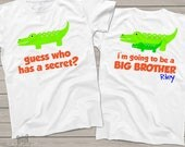 big brother shirt - alligator big brother to be pregnancy announcement t-shirt MALL1-003