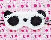 Panda Crochet Sleep Mask