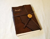 Dream Leather Journal with Recycled Paper-Large