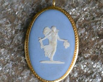 Vintage Gold Filled Wedgwood Pendant/Brooch