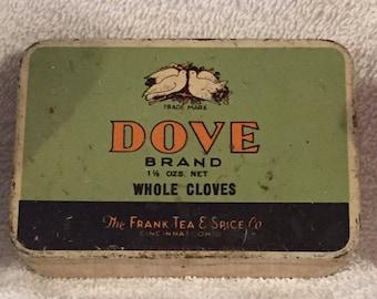 Vintage Dove Whole Cloves tin