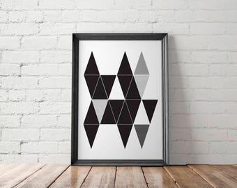 Geometric Wall Art, Scandinavian Print, Geometric Print, Geometric Poster, Abstract Art Print, Large Wall Art