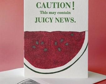 Watermelon Juicy News Card