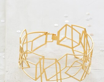 On Sale 20% Off Composition Bracelet, Architectural jewelry, urban jewelry, architectural bracelet