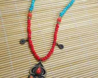 Boho style Greyhound or Whippet Necklace