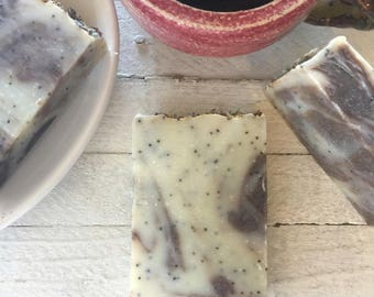 Cold Process Soap,Lavender Mint Natural Soap, Skin Care, Artisan Soap, Essential Oil, Alkanet Root