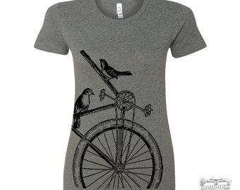 Womens SPARROW BIKE T Shirt -hand screen printed s m l xl xxl (+ Colors Available) custom