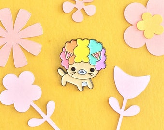 Afro Cat Rainbow Edition Enamel Pin