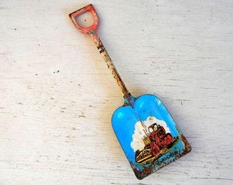 Vintage Ohio Art Tin Toy Shovel | Litho Big Boss Shovel | Ohio Art Bulldozer | Toy Shovel