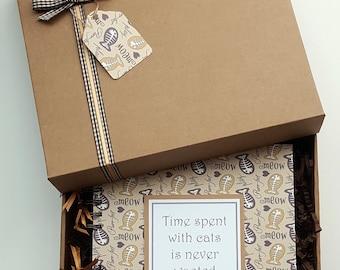 """Pet Cat Scrapbook, 8""""x 8"""" kitten photo album, handmade pet memory book gift, can be personalised"""
