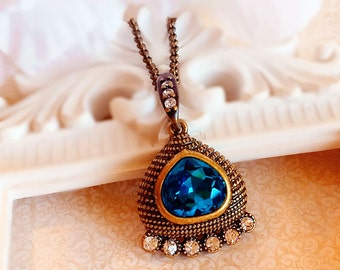 Egyptian Jewelry - Teal - Egyptian Necklace - Statement - CLEOPATRA Teal