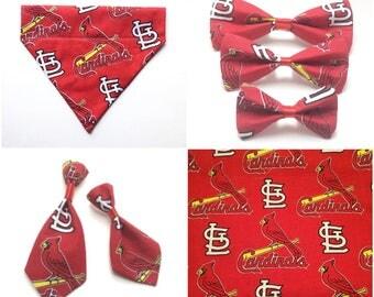 Pet Accessory - St. Louis Cardinals Logo - Over the Collar - Custom - Bandana, Bow Tie, Neck Tie, Flower