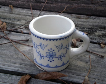 Vintage Diner Style Coffee Cup, Rustic Blue and White, Country Kitchen Decor, Viking Brand, Collectible Diner Style Mug