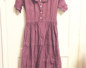 Overdyed vintage dress shabby tattered dress