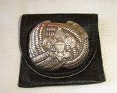 Vintage Eagle Boy Scout scarf holder.