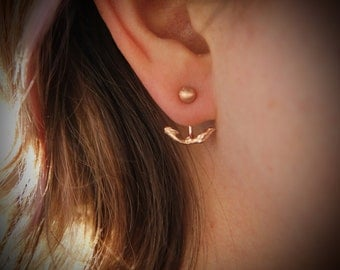 Twig Ear Jacket - Rose Gold Twig Ear Jacket - Sliver Twig Ear Climber - Twig Branch Earring - Bohemian Jewelry - Boho Twig Earring