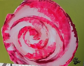 Bright pink rose, contemporary flower