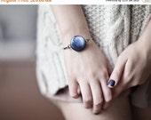 Pluto Bracelet - Space Jewelry - Pluto jewelry - Solar System jewelry - Navy blue Bracelet - Pluto planet - Solar system bracelet (BT022)