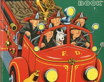 Great Big Fire Engine Book by Tibor Gergely Vintage Childen's Book Golden Book's CrabbyCats, Crabby Cats WS3E