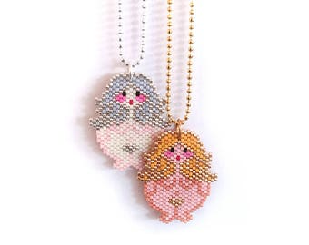 Necklace - Little Ladies, Gold and Silver