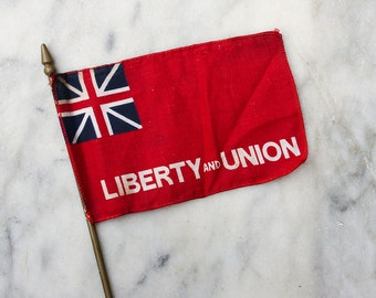 Vintage American Flag / Miniature Desk Flag / Liberty and Union / Union Jack