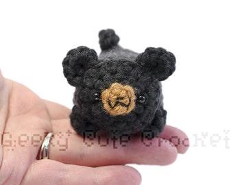 Black Bear Yami Amigurumi Crochet Stuffed Plush Desk Toy