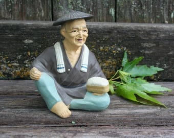 Too Cute For Words - Old Japanese Man Figurine