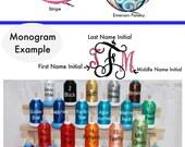 Monogrammed Travel Jewelry Case, Round personalized jewelry case, jewelry holder, zippered jewelry case, ring holder, bracelet holder