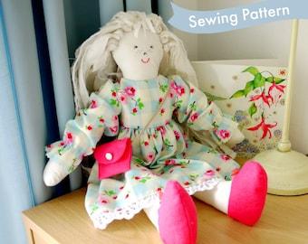 """PDF Sewing Pattern 17"""" Emily-Jane Ragdoll, dress, shoes & bag"""