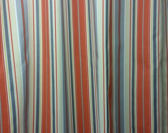 RTS orange multi stripe shower curtain, polyester, 72 x 84""