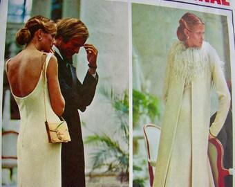 Givenchy Designer VOGUE Paris Original Pattern 1042  * GLAMOROUS Evening Dress, Coat & Jacket  * Size 16, bust 38 * UNCUT
