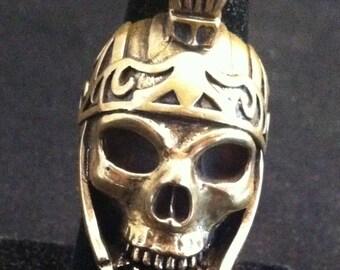 Vintage BikerSkull Ring, Biker Skull Ring Jewelry, Biker Rings Made of Brass Roman Head Dress Bikers Luxury Ring 8 3/4 - 9, *USA ONLY*