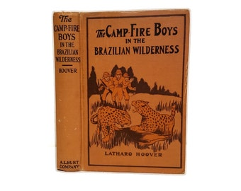 Hollow Book Safe The Campfire Boys in the Brazilian Wilderness Cloth Bound vintage Secret Compartment Security hiding place