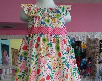 Summer Flowers Ruffle Dress