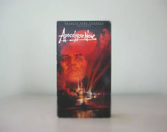 Francis Ford Coppola Movie, Apocalypse Now, Vintage VHS Tape - 1970s Classic War Movie, Gift for Dad, Fathers Day Gift - Marlon Brando