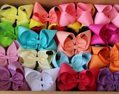 "Pick 5 - Large Extra Large Jumbo Hair Bows - 2.25"" Ribbon - Choose Colors ~ m2m Matching Matilda Once Upon A Time Fall Holiday Chapter 1 BIG"
