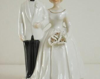 VTG 1980 Originals By Toni Japan Bride and Groom Porcelain Wedding Cake Topper