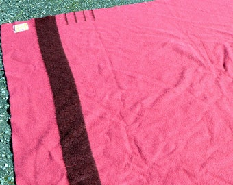 Vintage Wool Hudson's Bay Blanket - Made in England