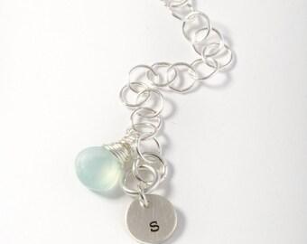 Personalized Bracelet, Initial Bracelet, Chain Bracelet, Initial Jewelry, Custom Bracelet, Gift for Best Friend, Girlfriend Gift, Initial
