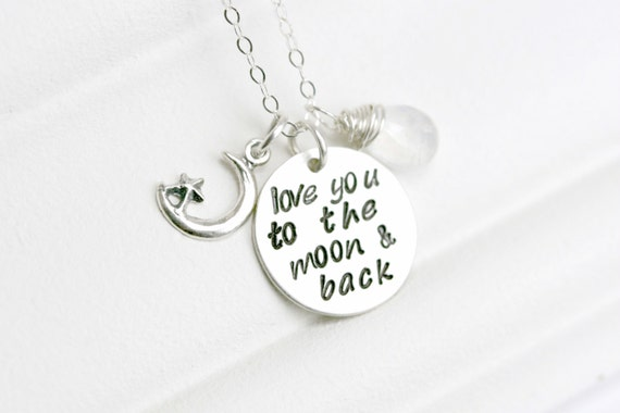 Sterling Silver Mothers Birthstone Necklace - Gift for Mum - Mothers Day Gift - Mom Gifts from Daughter - Custom Mothers Day Jewelry