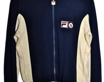 Vintage 70s FILA Bjorn Borg BJ Settanta MK1 Zip Up Tennis Track Jacket sz 40 Small S Extremely Rare