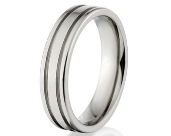 New 6mm Comfort Fit, Custom Titanium Ring: 6F2G-P