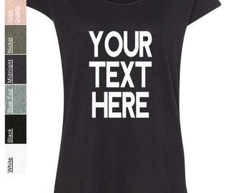 Custom Made Alternative - Women's Cotton Modal Origin T-Shirt - 3499 Vinyl or Glitter Print Customized All Colors