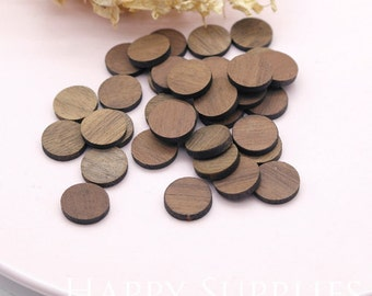 Last - 25 / 50pcs - Sample Sale - Handmade 12mm Round Wood Cut Charms (C000R) - Clearance Sale