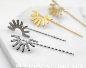 Last- 40% off - 10 Pieces Nickel Free - High Quality Geometric Stainless Steel Stud Earring (SSH01-P)--Clearance Sale