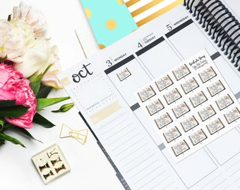 JW Daily Bible Reading Floral Vertical Planner JW Gift Sticker Glossy - Stick to Your Story