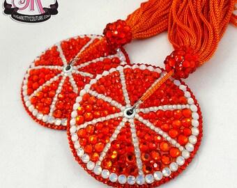 Citrus Slice Fruit Rhinestone Nipple Pasties - SugarKitty Couture